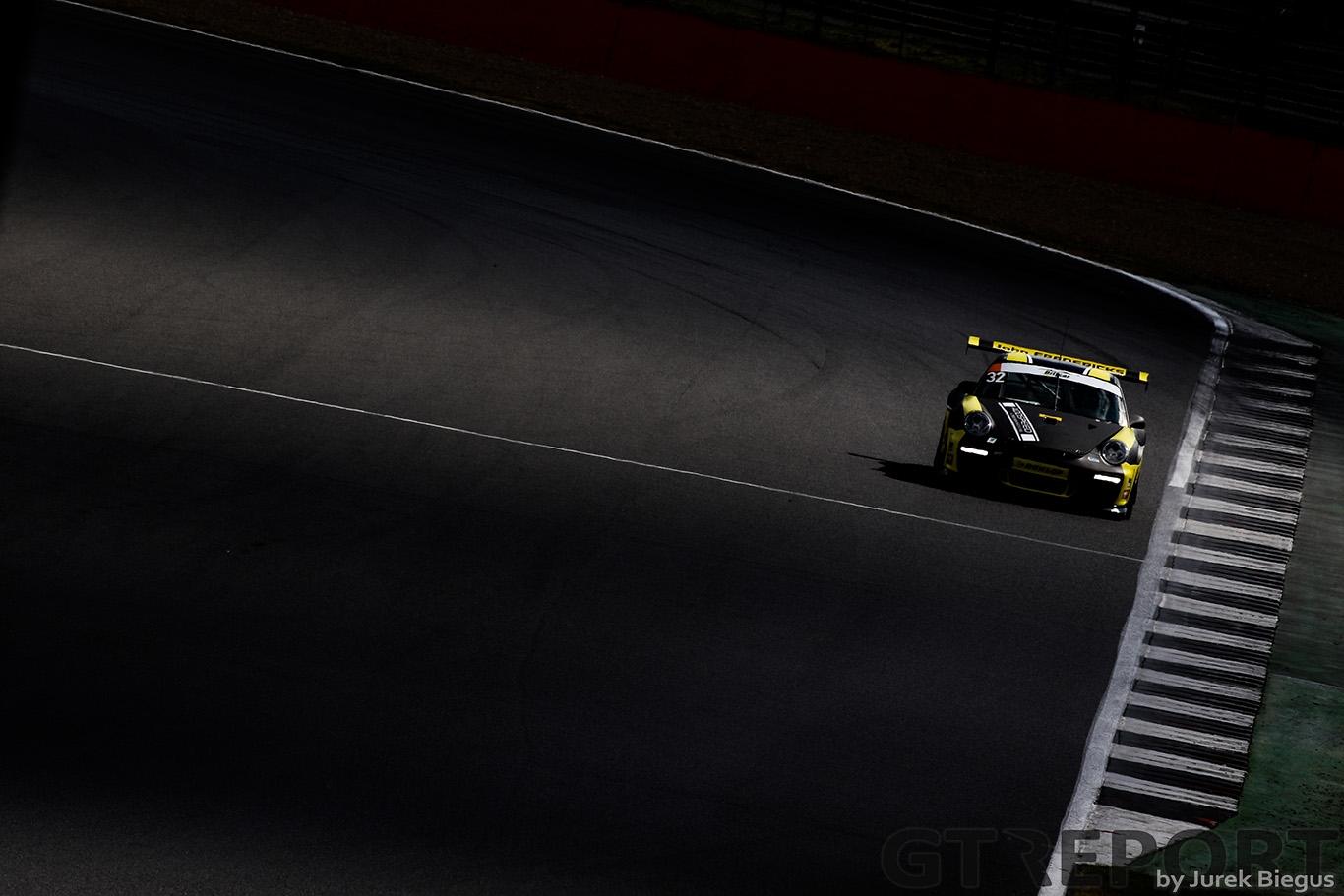 Mark Cunningham | Peter Cunningham | SG Racing | Porsche 997 Cup | Britcar Dunlop Endurance Championship, Silverstone. Photo: Jurek Biegus