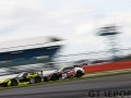 Optimum Motorspot Ginetta G55 GT4 with drivers Adrian Barwick & Bradley Ellis ahead of TF Sport Aston Martin Vantage GT3 with drivers Derek Johnston & Jonny Adam during the British GT Silverstone 500 at the Silverstone Circuit, Silverstone, England on 11 June 2017. Photo by Jurek Biegus.