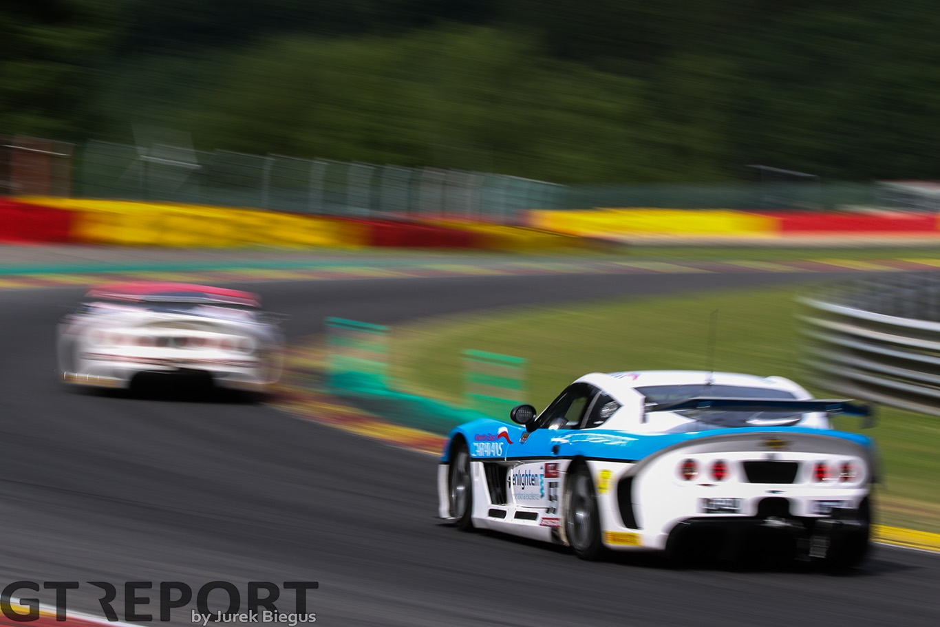 HHC Motorsport Ginetta G55 GT4 with drivers Stuart Middleton & William Tregurtha during the British GT Championship at Circuit de Spa-Francorchamps, Stavelot, Belgium on 8 July 2017. Photo by Jurek Biegus.