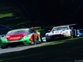 Barwell Motorsport Lamborghini Huracan GT3 with drivers Jon Minshaw & Phil Keen leads Macmillan AMR Aston Martin Vantage GT3 with drivers Jack Mitchell & James Littlejohn during the British GT Championship Round 9 at  Brands Hatch England on 6 August 2017. Photo by Jurek Biegus.