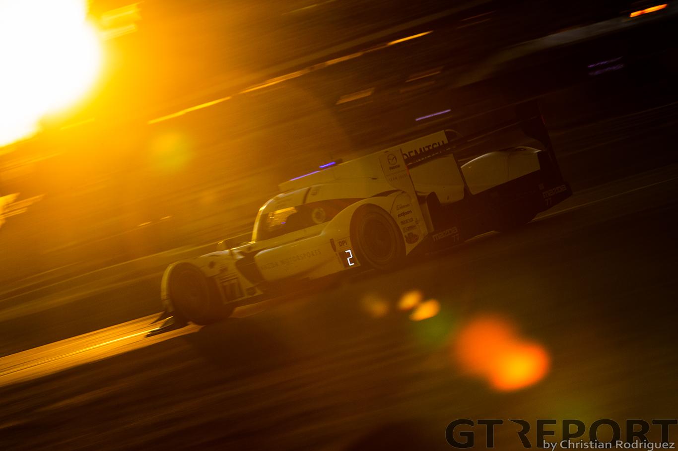 Daytona 24 Hours: Mazda and WTR take turns leading as night falls