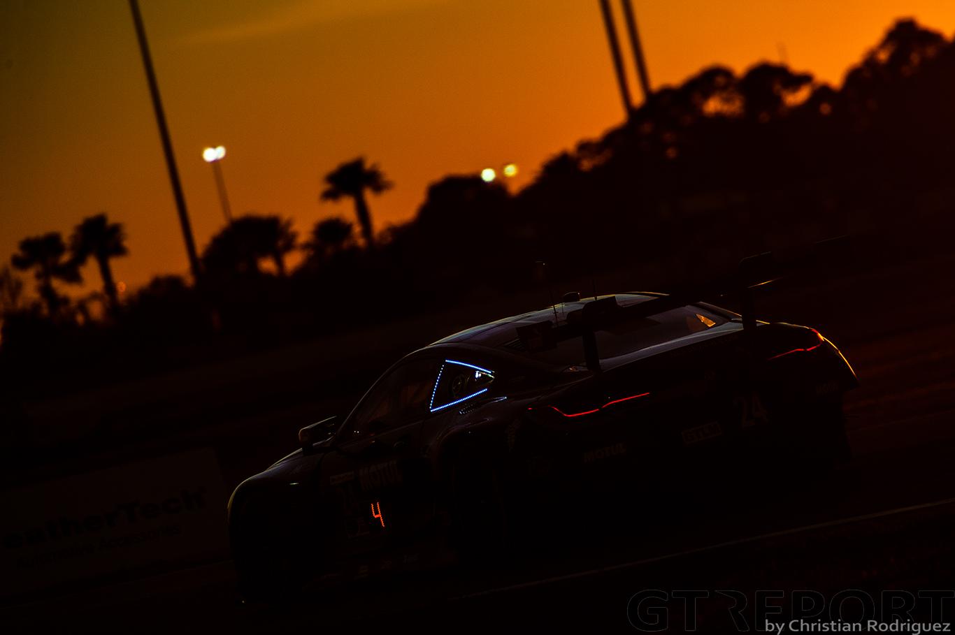 Daytona 24 hours racing action