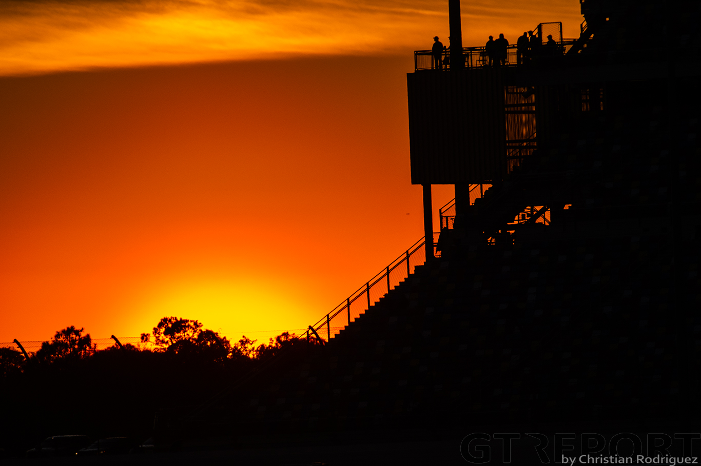 Sunset at the 2020 Rolex 24 hours of Daytona