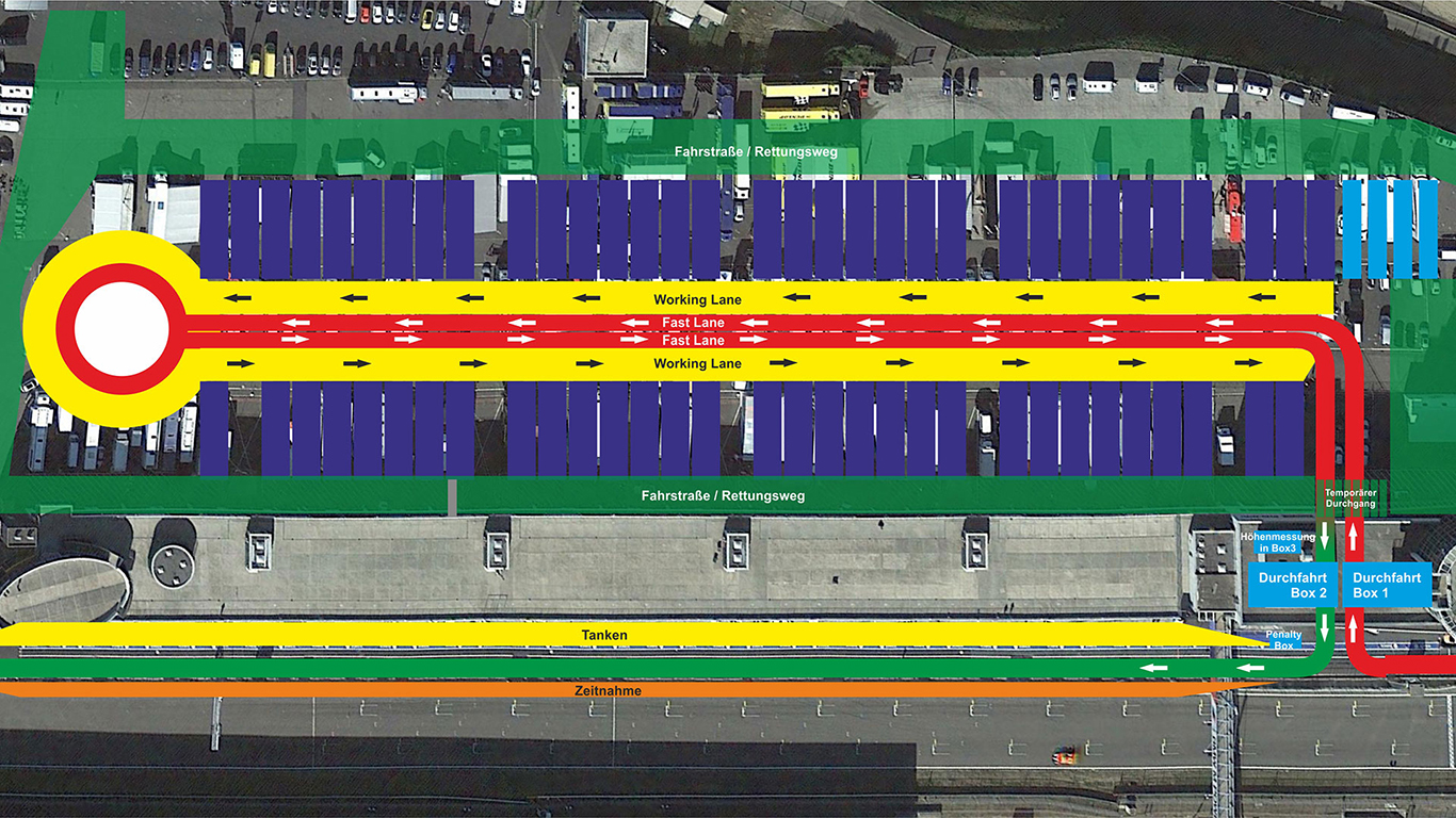 This is how VLN's open air pit lane works