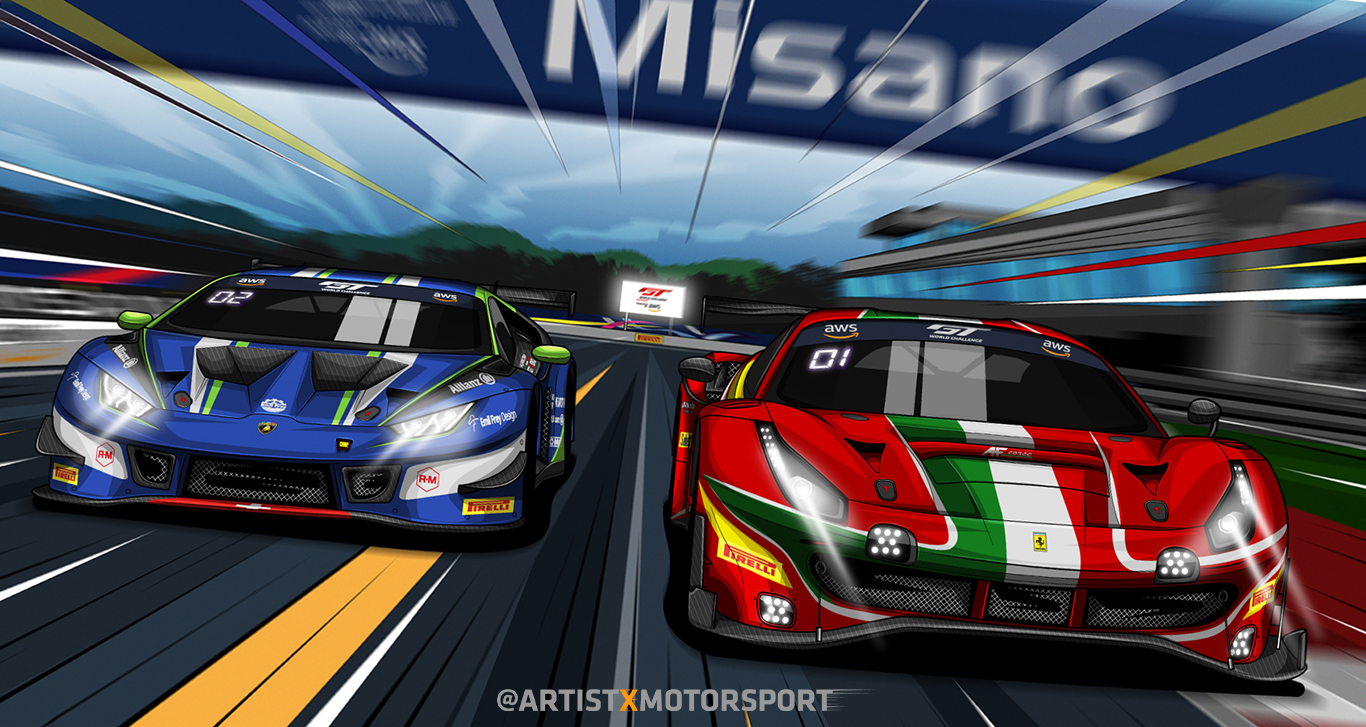 GT World Challenge Europe Italia art by Artistxmotorsport
