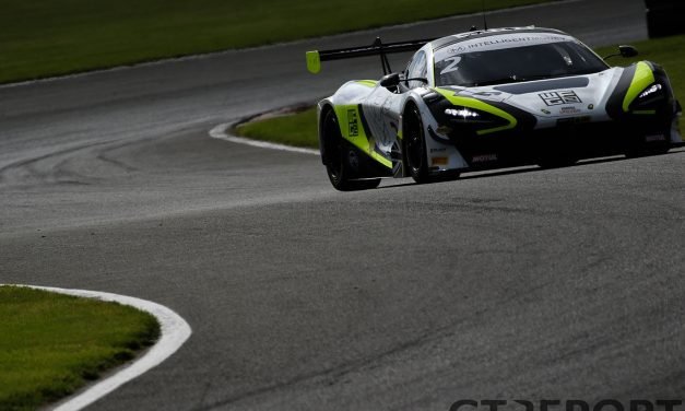 British GT Oulton Park: O'Brien holds on to secure race one for Jenson Team Rocket