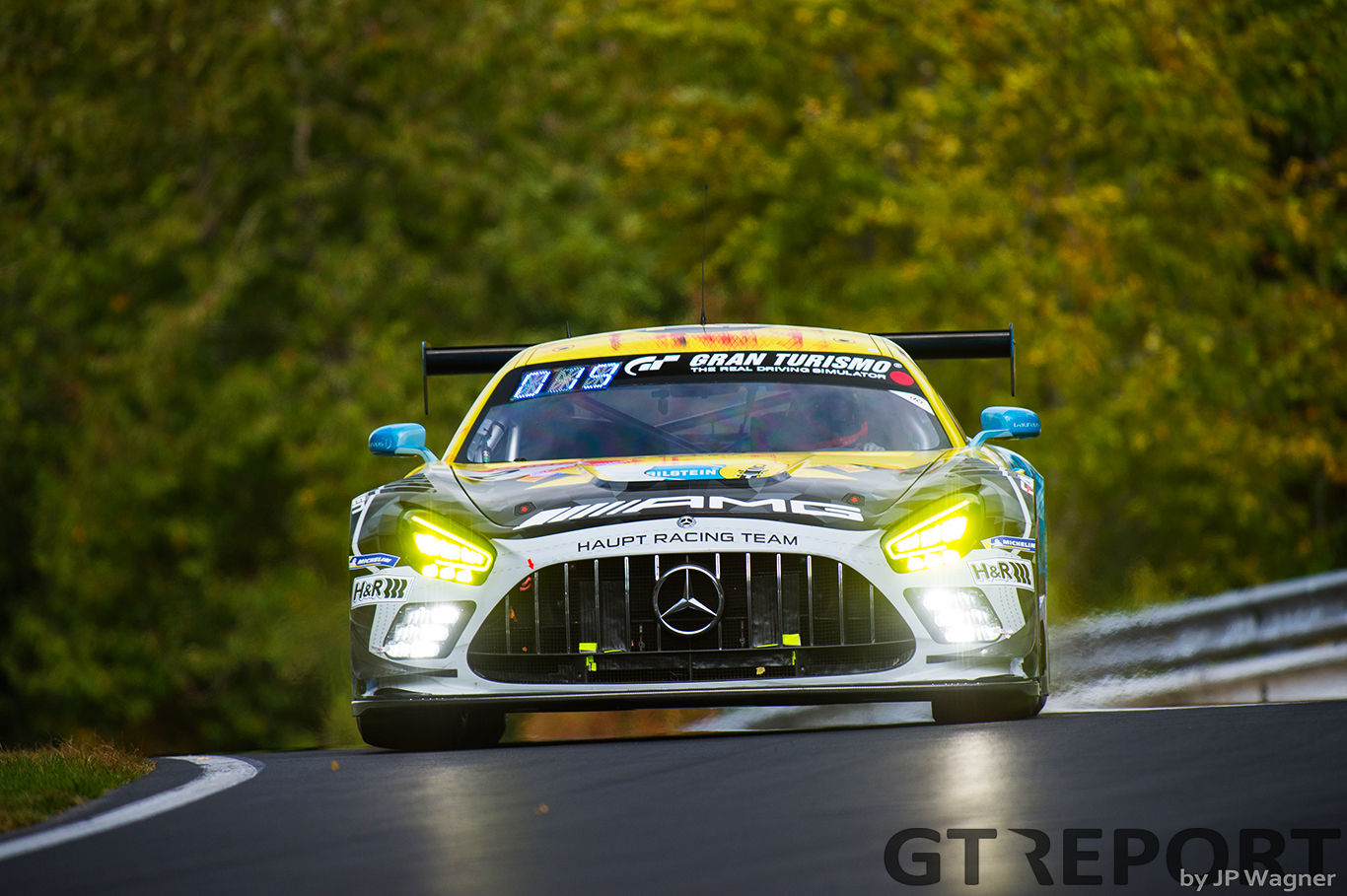 AMG brings in test chassis to replace crashed #2 Haupt Racing Team car