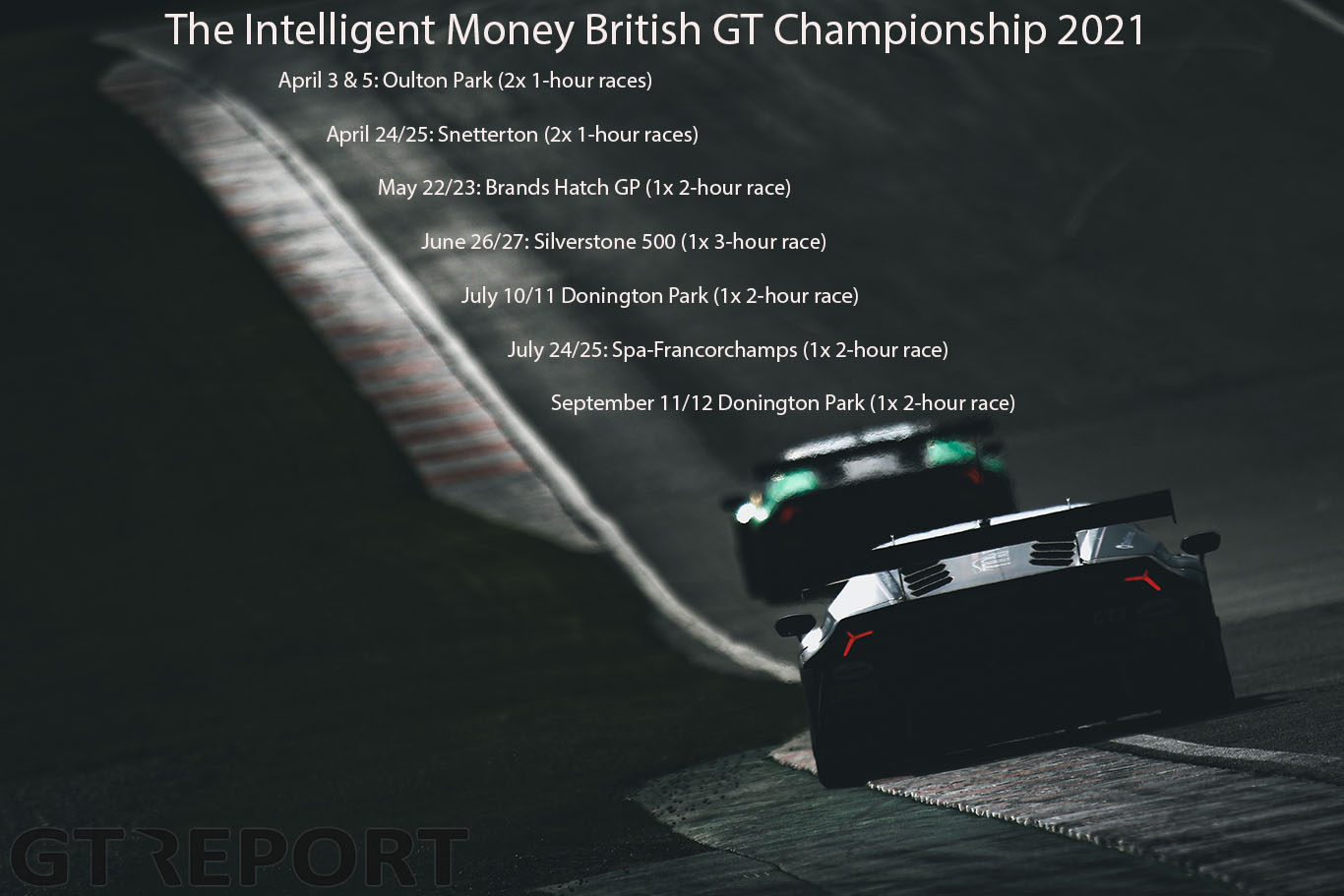 British GT 2021 calendar and new class announcement