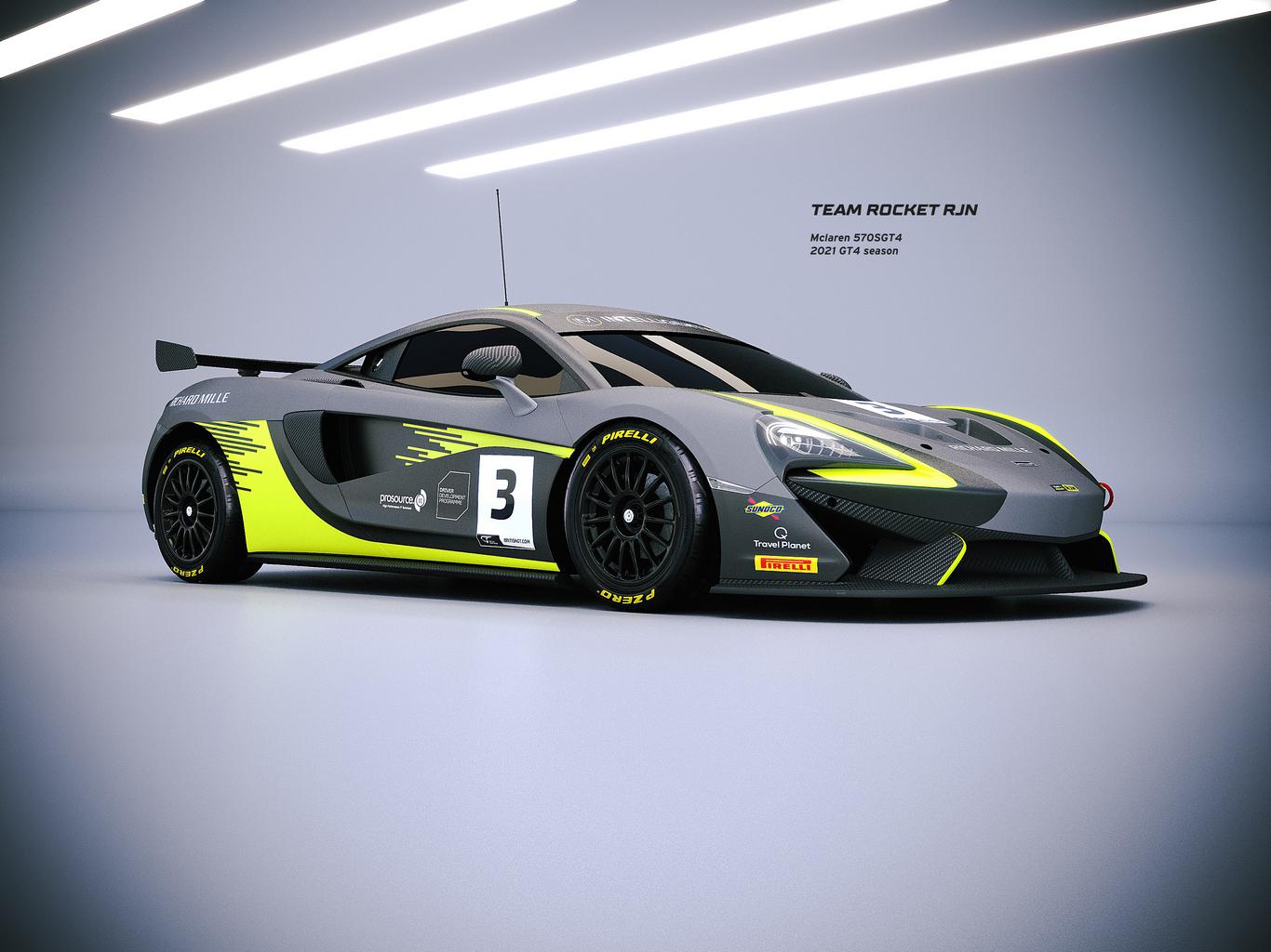 Team Rocket RJN to run McLaren Driver Development Programme's GT4 entries