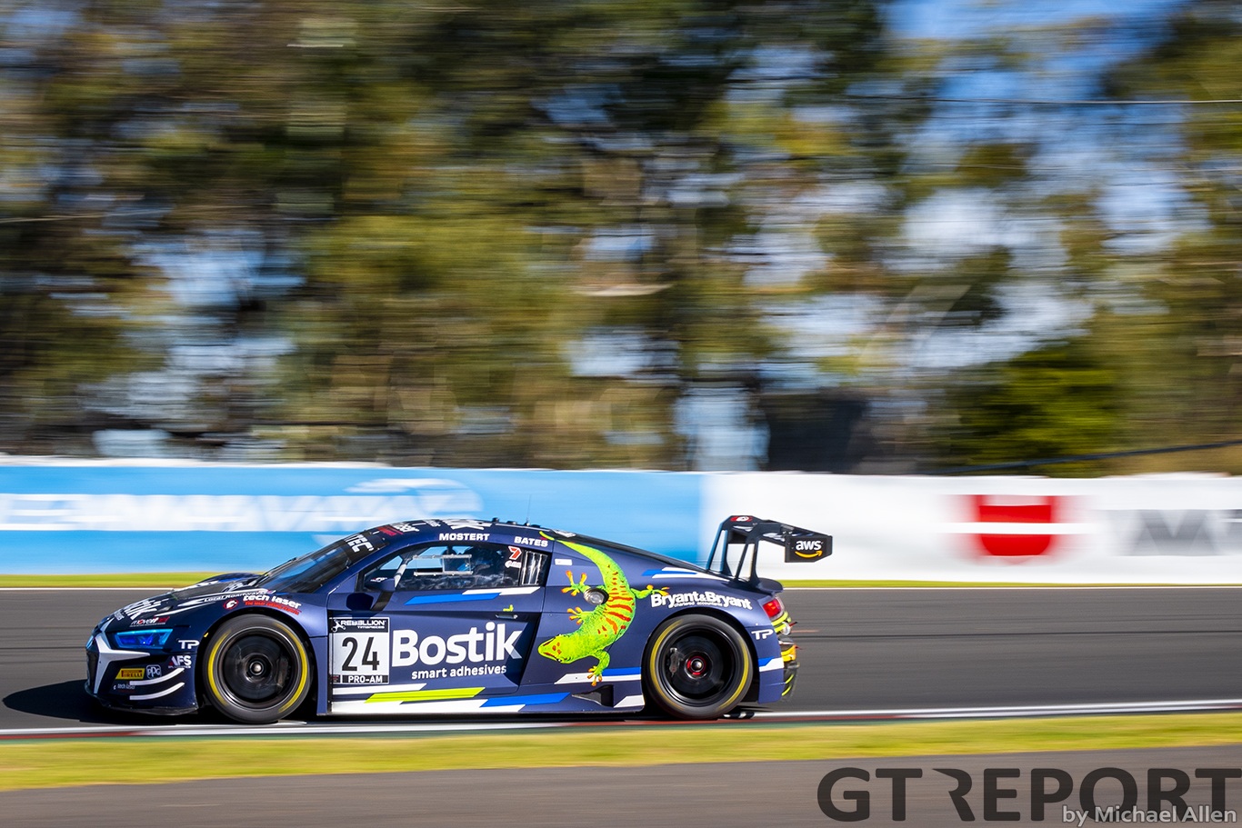 O'Keeffe subs for Mostert at The Bend in GTWC Australia