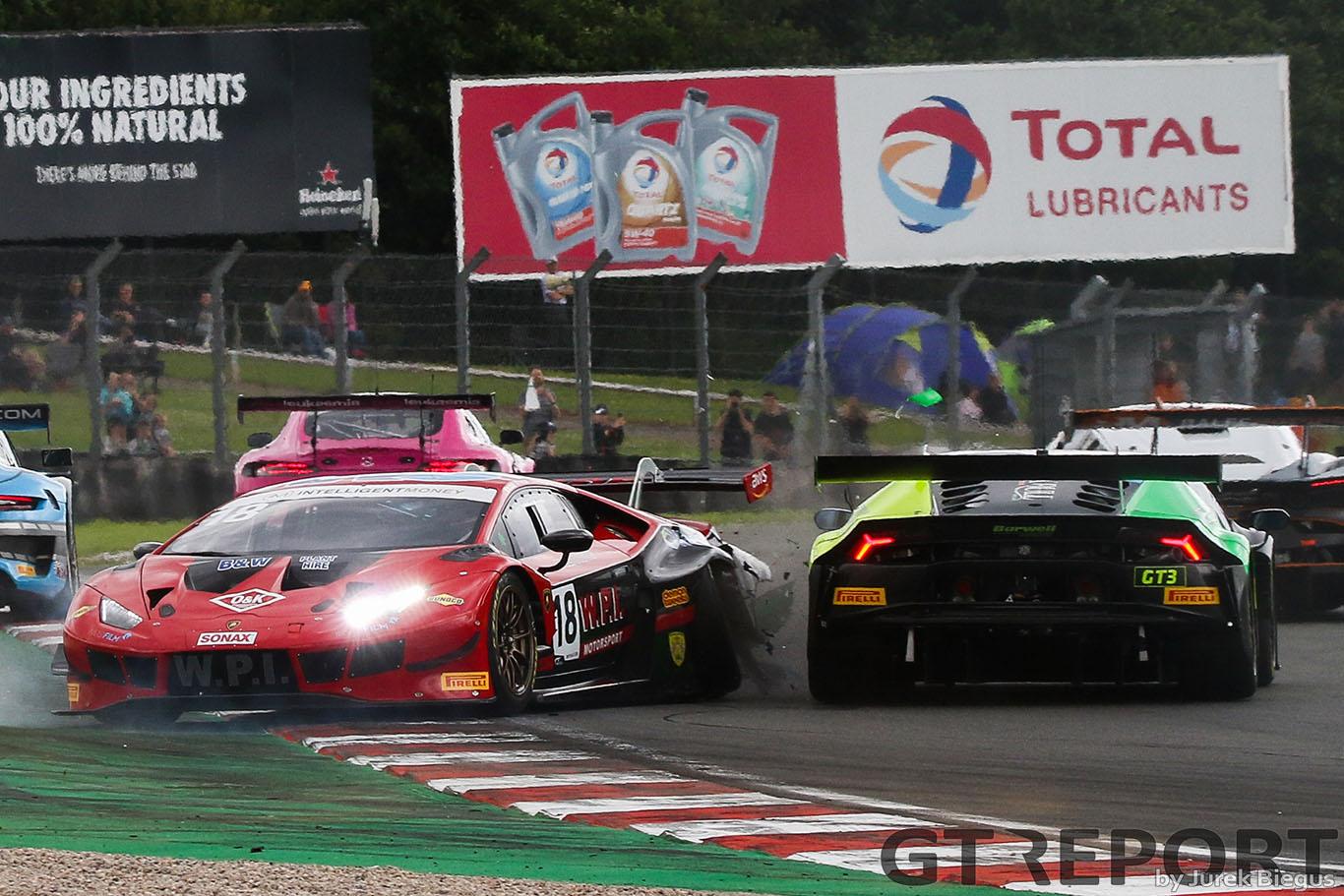 British GT Donington Park: Nearys take well-earned win in race of attrition